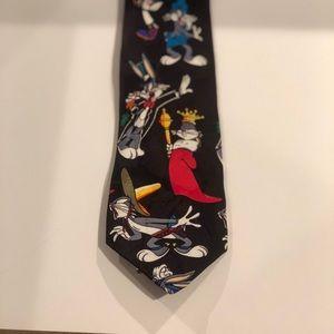Vintage Looney Tunes Mania Bugs Bunny Mens Tie